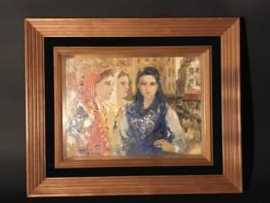 二科会 狩野守 油彩 アルファマの女 美人画 油絵