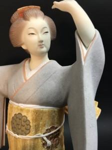 宗田源造 人間国宝 博多人形 清海波