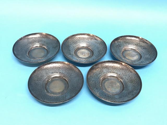 純銀 打出し 茶卓 煎茶道具