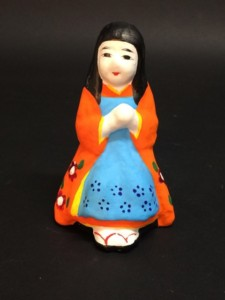 郷土玩具 土人形 山形 酒田土人形 少女