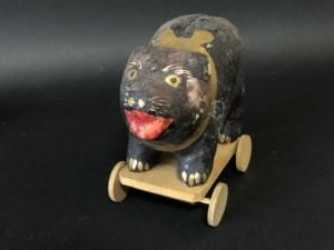 郷土玩具 福島 会津張子 熊車