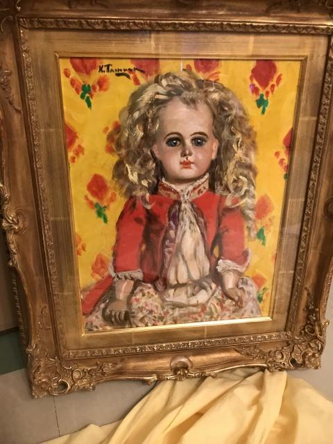 田村孝之介 油彩画 フランス人形
